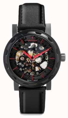 Weird Ape Kolt automatique noir bracelet en cuir noir étui ip WA02-005500