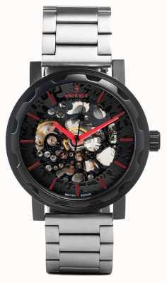 Weird Ape Kolt automatique en acier inoxydable bracelet noir étui ip WA02-005507