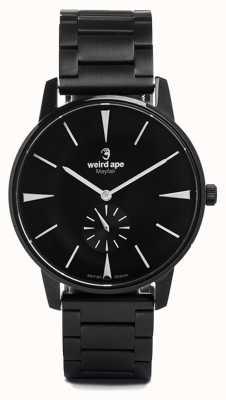 Weird Ape Mayfair cadran noir marqueurs blancs bracelet à maillons noirs WA02-005622