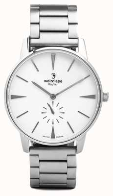 Weird Ape Mayfair bracelet à maillon argenté à cadran blanc WA02-005640