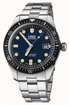Oris Divers soixante-cinq automatique en acier inoxydable cadran bleu 01 733 7720 4055-07 8 21 18