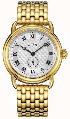 Rotary Bracelet plaqué or canterbury pour homme GB05338/21
