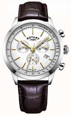 Rotary Montre en cuir Cambridge Chrono pour homme GS05253/02