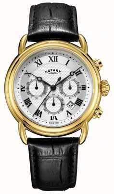 Rotary Montre en cuir pour homme chronographe canterbury GS05333/21