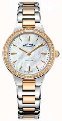 Rotary Montre kensington rose en or rose à deux tons pour femme LB05277/41