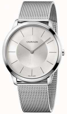 Calvin Klein Bracelet minimaliste en maille grise pour homme K3M2T126