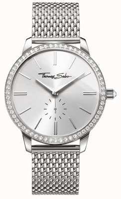 Thomas Sabo Womens glam et âme glam esprit montre argent maille bracelet WA0316-201-201-33