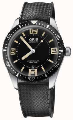 Oris Divers soixante-cinq bracelet en caoutchouc automatique cadran noir 01 733 7707 4064-07 4 20 18