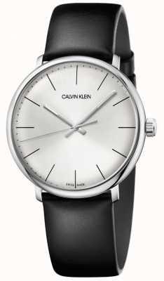 Calvin Klein Bracelet en cuir noir haute cadran noir pour homme K8M211C6