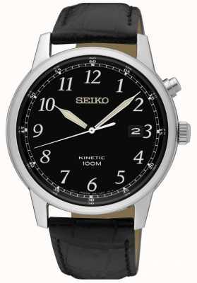 Seiko Montre nalog cinétique noire bracelet noir et cadran noir SKA781P1