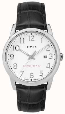 Timex Signature de lecteur facile avec la montre en cuir de date de 38mm TW2R64900