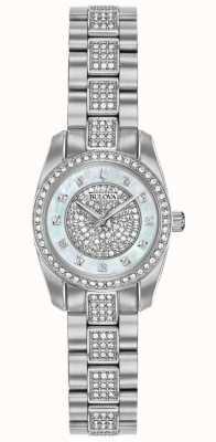 Bulova Womens cristal ensemble en acier inoxydable 96L253