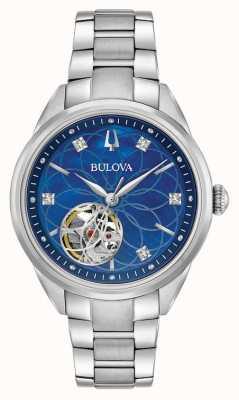 Bulova Diamond acier inoxydable femmes automatique 96P191