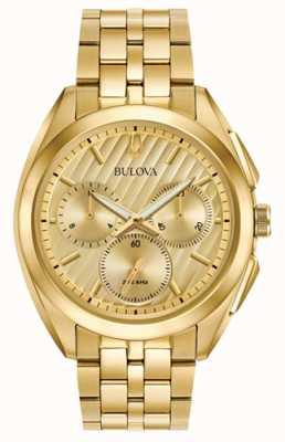 Bulova Robe de chronographe curv mens progressive 97A125