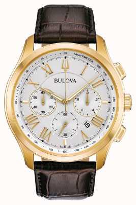 Bulova Bracelet en cuir marron classique pour homme 97B169
