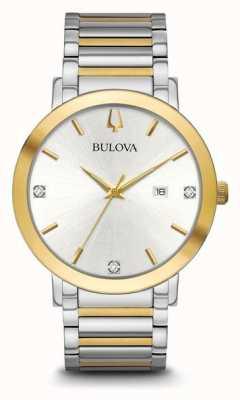 Bulova Bracelet deux tons pour homme 98D151