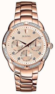 Bulova Cadran en or rose Diamond Femme 98W178