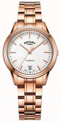 Rotary Montre cambridge femme rose bracelet or rose LB05262/06