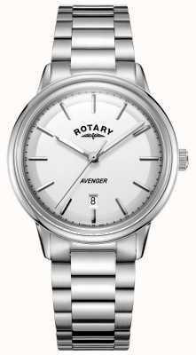 Rotary Mens avenger montre en acier inoxydable barcelet GB05340/02
