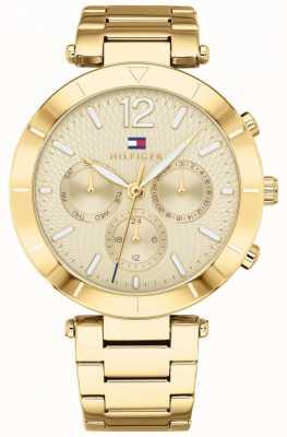 Tommy Hilfiger Womens chloe montre jour date doré bracelet 1781878