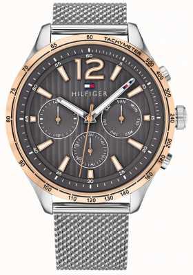 Tommy Hilfiger Mens gavin chronograph watch argent bracelet en maille d'acier 1791466