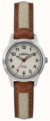 Timex Cadran naturel en cuir tan mini TW4B11900