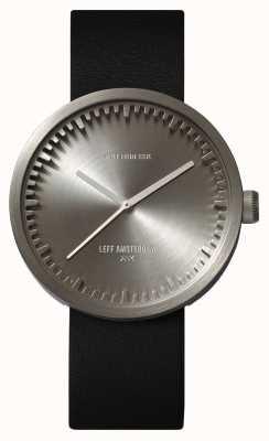 Leff Amsterdam Tube montre d42 boîtier en acier bracelet en cuir noir LT72001