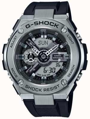 Casio G-shock g-acier noir bracelet en résine GST-410-1AER