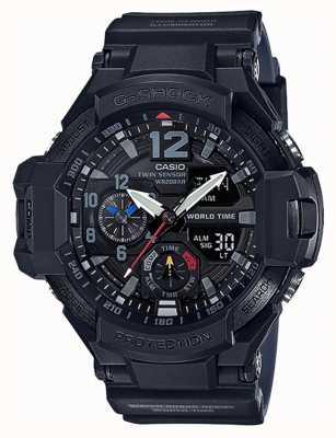 Casio G-shock gravitymaster bracelet en résine noire GA-1100-1A1ER
