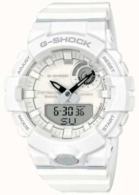 Casio G-shock bluetooth fitness étape tracker sangle blanche GBA-800-7AER