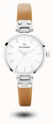 Mockberg Wera petite bracelet en cuir marron blanc MO1404