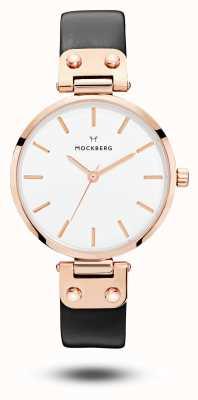 Mockberg Cadran blanc Sigrid bracelet noir MO1001