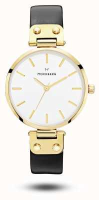 Mockberg Cadran blanc Saga bracelet noir MO107