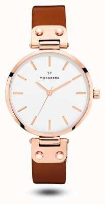 Mockberg Cadran blanc à bracelet marron Vilde MO109