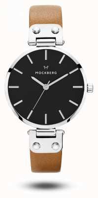 Mockberg Cadran noir bracelet noir brun Wera MO112