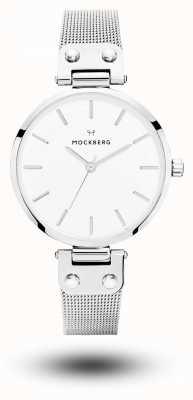 Mockberg Elise bracelet en maille d'acier inoxydable cadran blanc MO1602