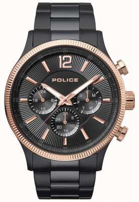 Police Montre à bracelet plaqué ipal bicolore feral pour homme 15302JSBR/02M