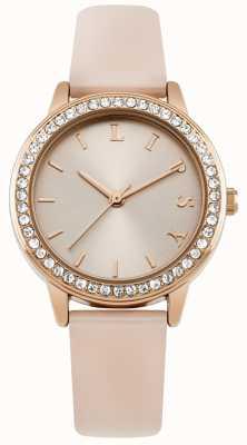 Lipsy Bracelet rose pour femme, montre à cadran en or rose LP565