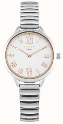Lipsy Montre bracelet extensible en argent pour femme LP578