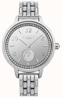 Lipsy Womens stone set montre bracelet en argent LP564