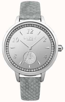 Lipsy Womens bracelet gris montre cadran argent LP581