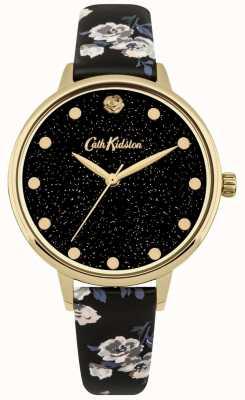 Cath Kidston Womens pailleté île tas bracelet noir montre CKL056BG