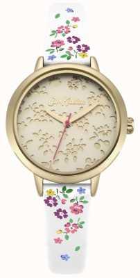 Cath Kidston Womens laser coupé highgate ditsy bracelet blanc montre CKL055WG
