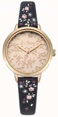 Cath Kidston Womens laser cut highgate ditsy navy bracelet montre CKL055URG