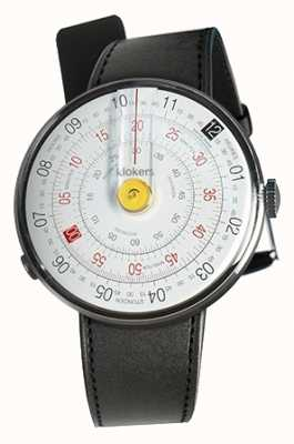 Klokers Klok 01 jaune tête de montre noir satin sangle unique KLOK-01-D1+KLINK-01-MC1