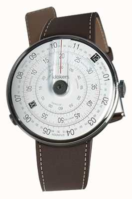 Klokers Klok 01 noir montre tête brun chocolat simple bracelet KLOK-01-D2+KLINK-01-MC4