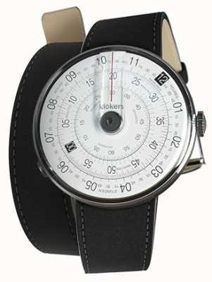 Klokers Klok 01 noir mat tête de montre noir 380mm double bracelet KLOK-01-D2+KLINK-02-380C2