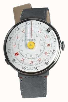 Klokers Klok 01 jaune tête de montre gris alcantara strait sangle unique KLOK-01-D1+KLINK-04-LC11