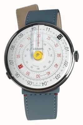 Klokers Klok 01 jaune tête de la montre bleu jean strait sangle unique KLOK-01-D1+KLINK-04-LC10
