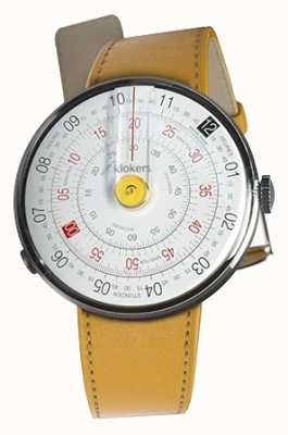 Klokers Klok 01 jaune tête de montre newport jaune sangle unique KLOK-01-D1+KLINK-01-MC7.1